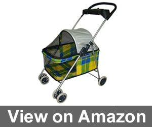 New BestPet Yellow Plaid Posh Pet Stroller Review