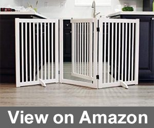 WELLAND Freestanding Wood Pet Gate Review